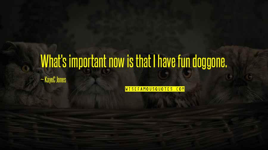 Inspirational Children's Quotes By KayeC Jones: What's important now is that I have fun