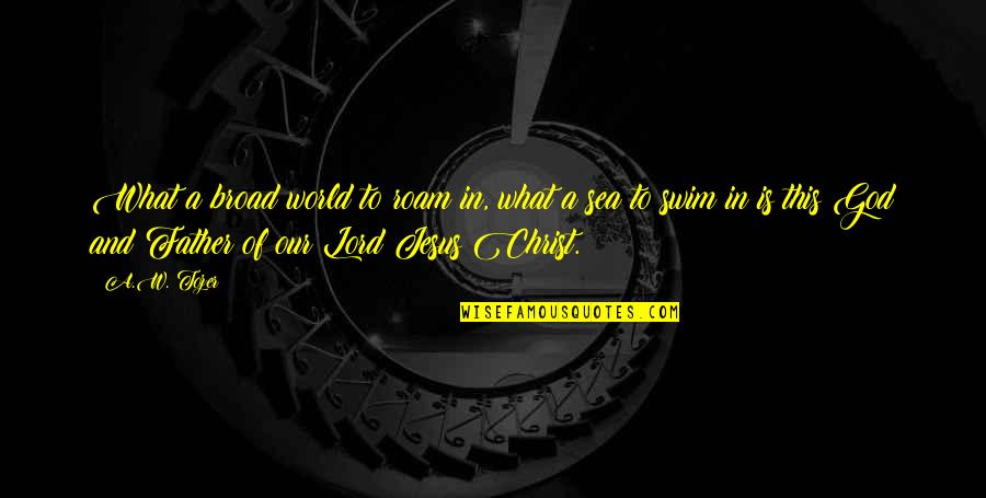 Inspirational Father Quotes By A.W. Tozer: What a broad world to roam in, what