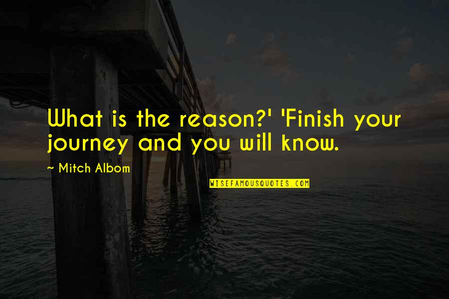 Inspirational Father Quotes By Mitch Albom: What is the reason?' 'Finish your journey and