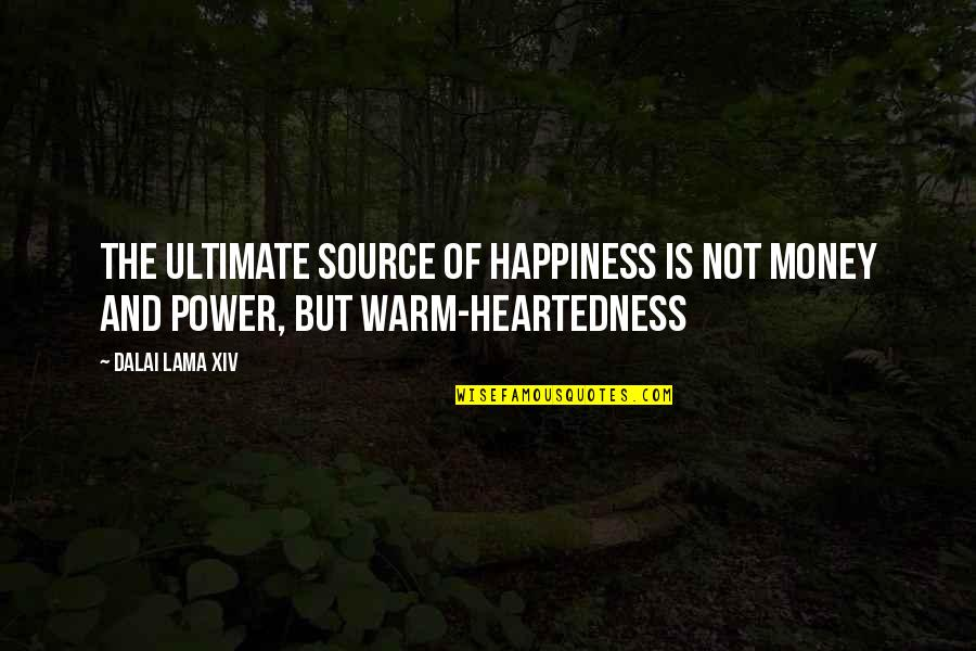 Inspirational Lama Quotes By Dalai Lama XIV: The ultimate source of happiness is not money