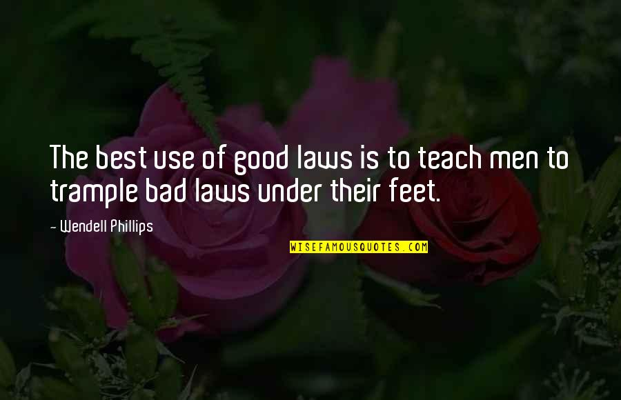 Inspirational Mentors Quotes By Wendell Phillips: The best use of good laws is to