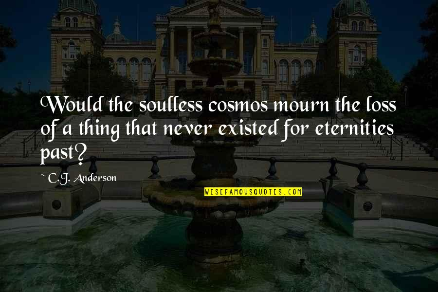 Inspirational Nervousness Quotes By C.J. Anderson: Would the soulless cosmos mourn the loss of