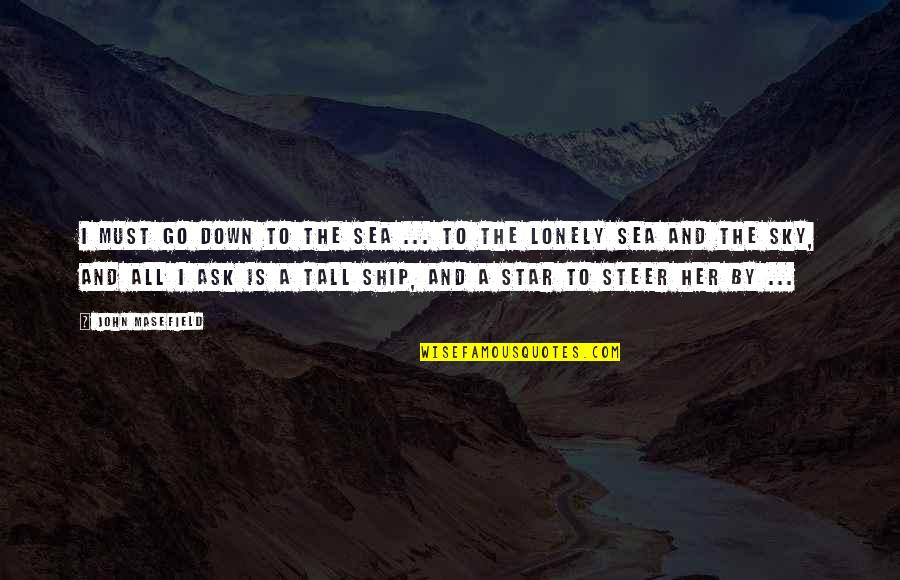 Inspirational Sea Quotes By John Masefield: I must go down to the sea ...