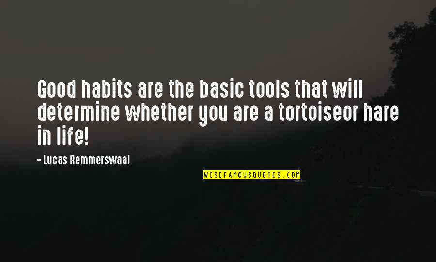 Inspirational Tools Quotes By Lucas Remmerswaal: Good habits are the basic tools that will