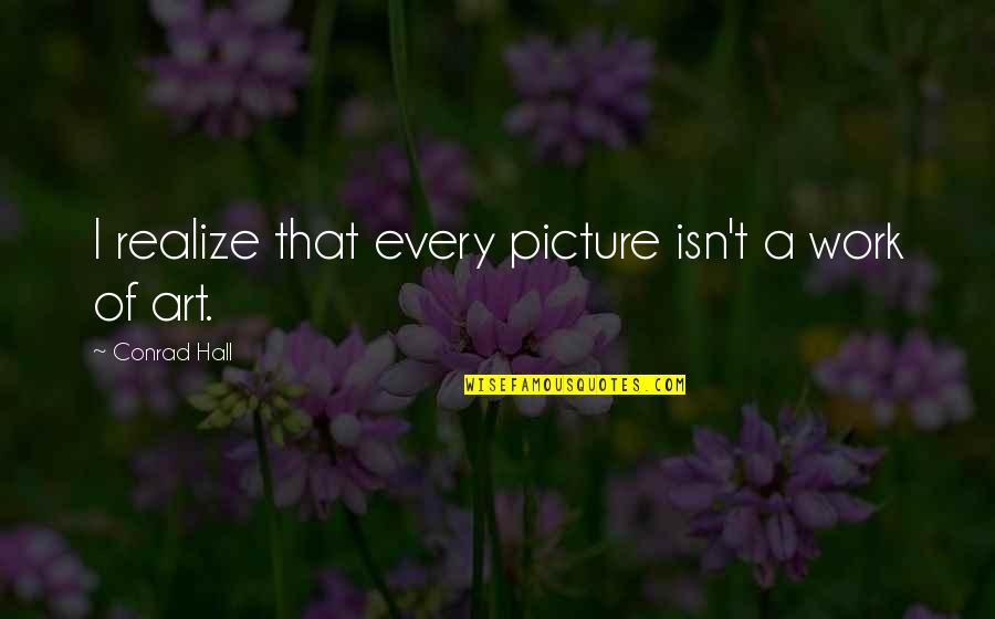 Inspirational Traitors Quotes By Conrad Hall: I realize that every picture isn't a work