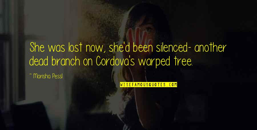Inspirational Traitors Quotes By Marisha Pessl: She was lost now, she'd been silenced- another