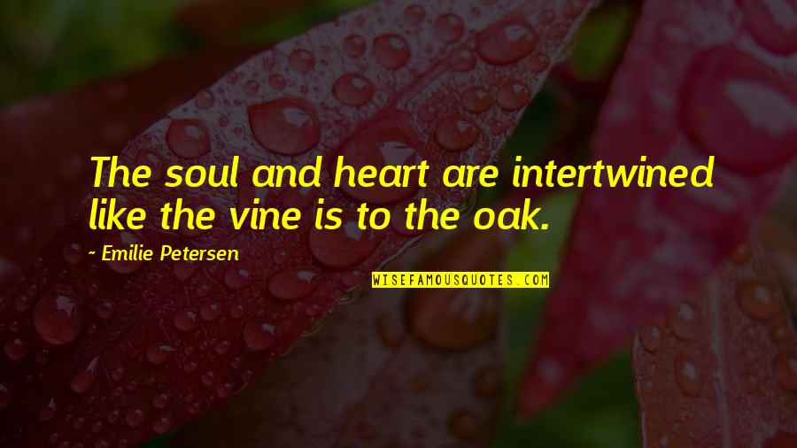 Inspirational We Heart It Quotes By Emilie Petersen: The soul and heart are intertwined like the