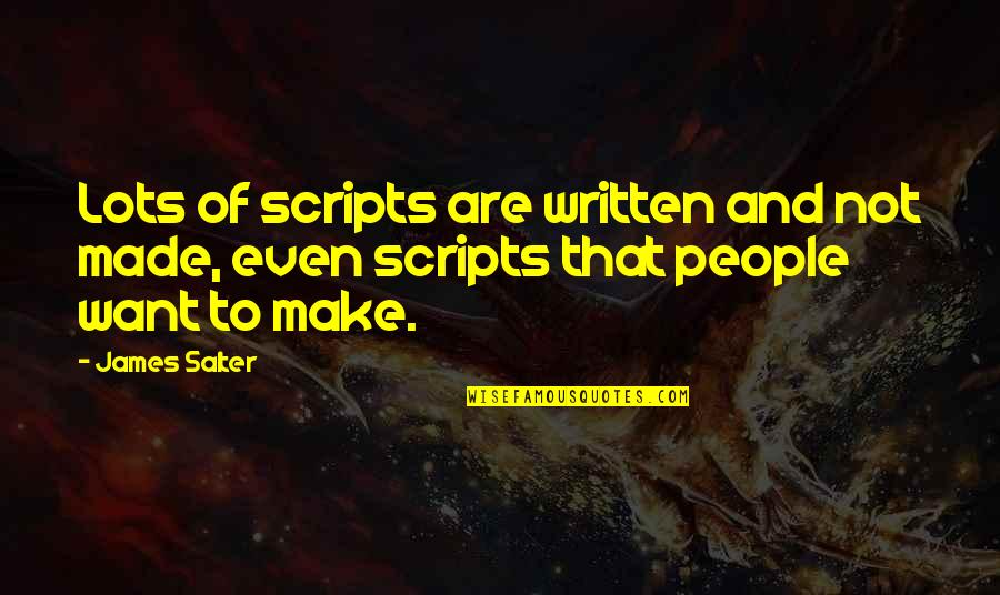 Inspire Aced Quotes By James Salter: Lots of scripts are written and not made,