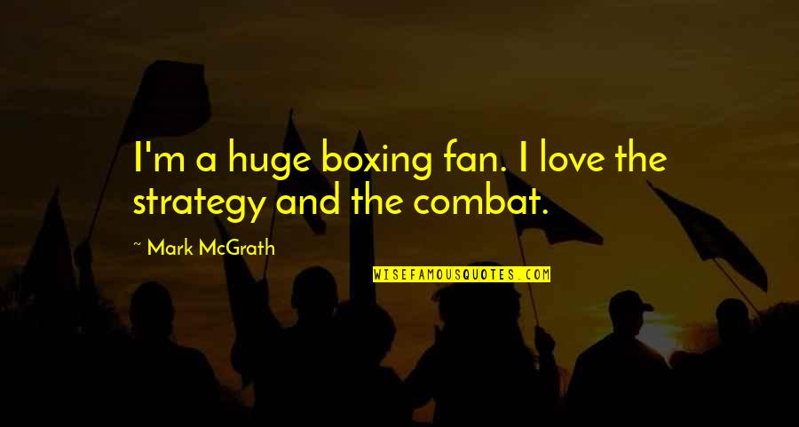 Instant Auto Loan Quotes By Mark McGrath: I'm a huge boxing fan. I love the