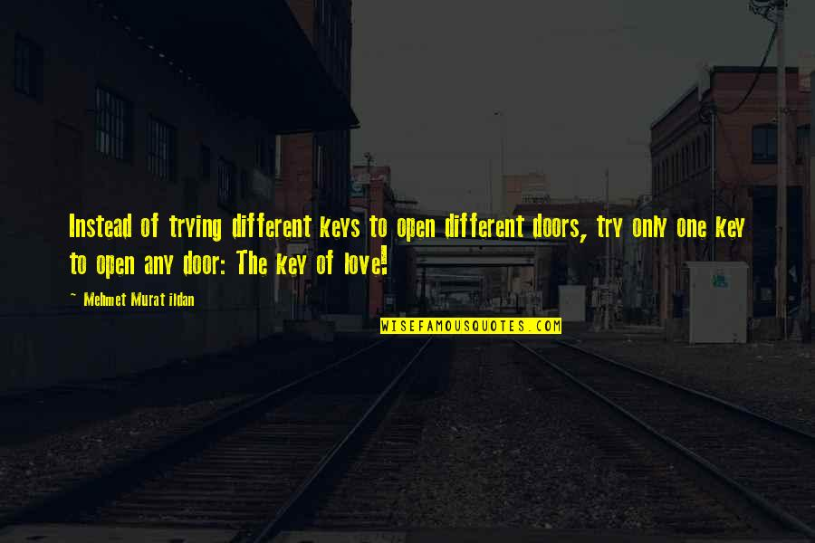 Instead Of Quotes By Mehmet Murat Ildan: Instead of trying different keys to open different