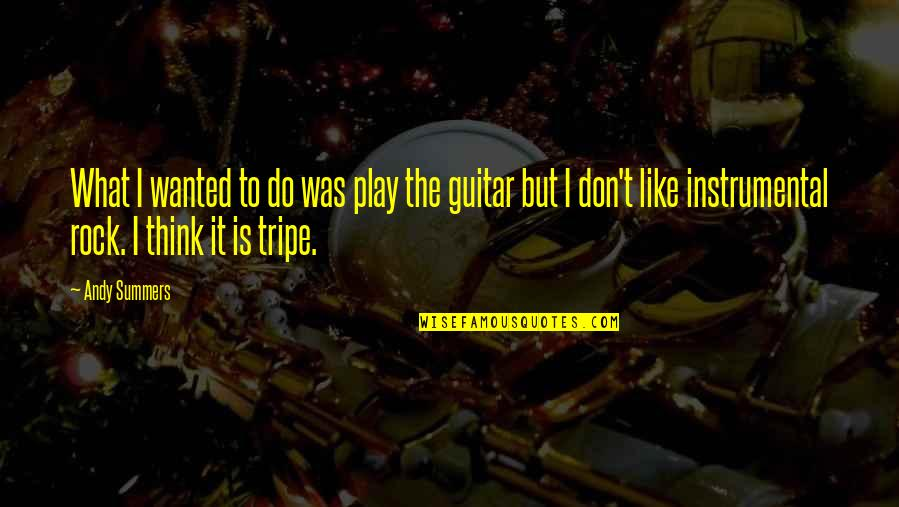 Instrumental Quotes By Andy Summers: What I wanted to do was play the