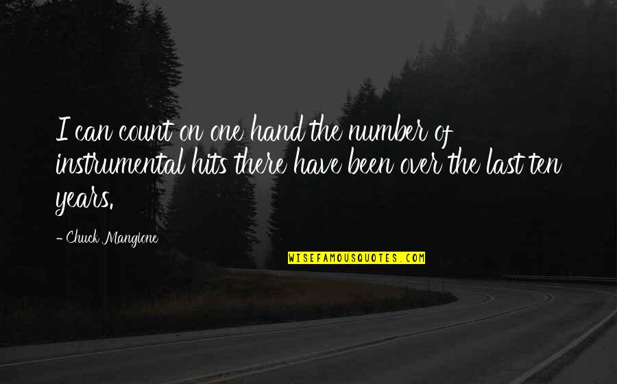 Instrumental Quotes By Chuck Mangione: I can count on one hand the number