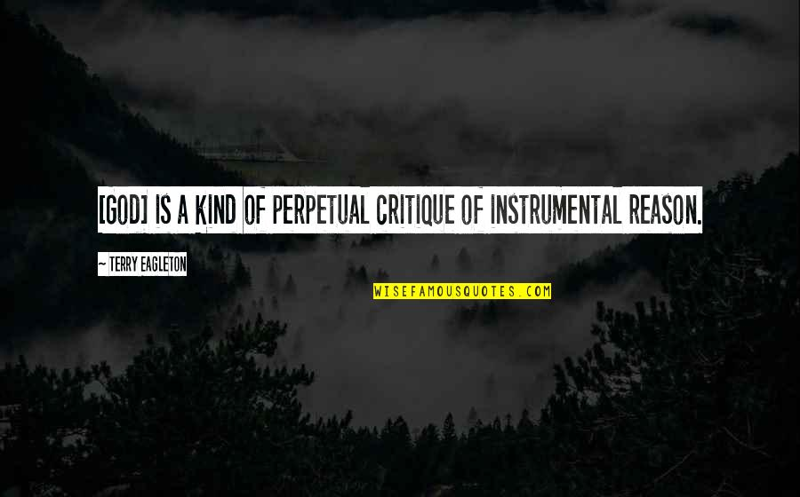 Instrumental Quotes By Terry Eagleton: [God] is a kind of perpetual critique of