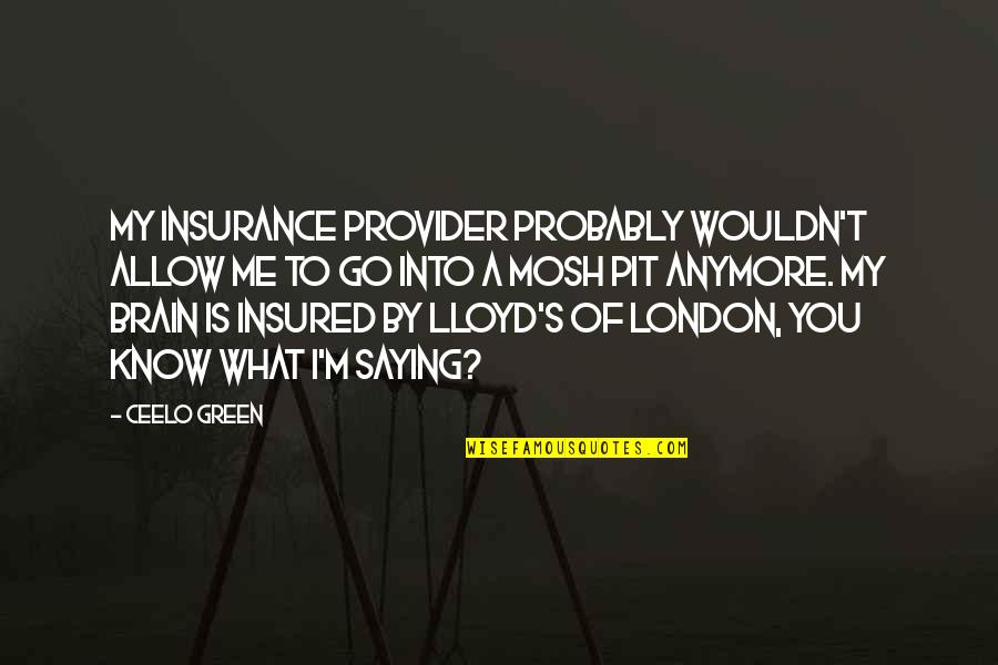 Insurance Plus Quotes By CeeLo Green: My insurance provider probably wouldn't allow me to