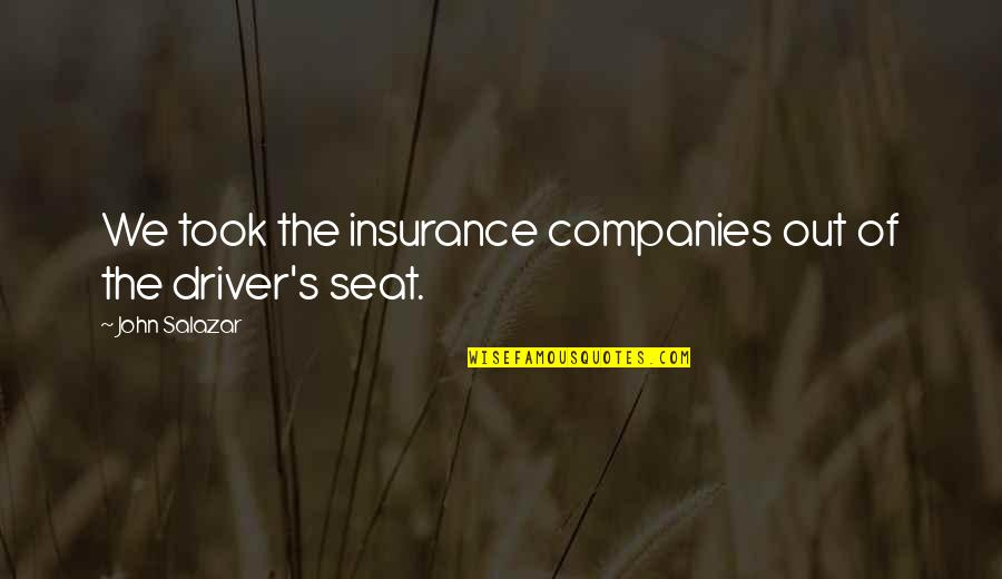 Insurance Plus Quotes By John Salazar: We took the insurance companies out of the
