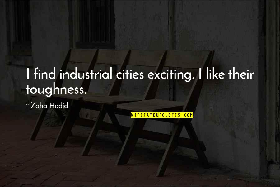 Intelligent Life On Other Planets Quotes By Zaha Hadid: I find industrial cities exciting. I like their