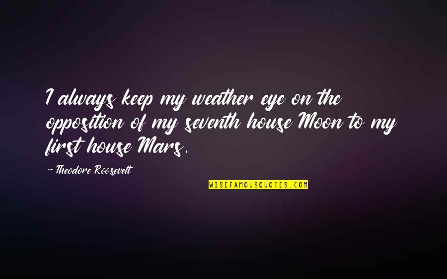 Interline Quotes By Theodore Roosevelt: I always keep my weather eye on the