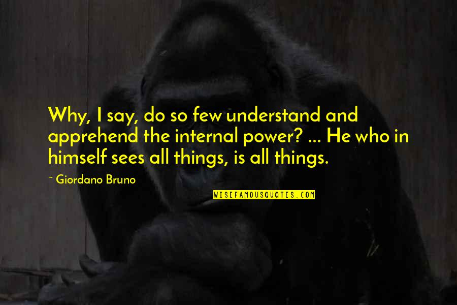 Internals Quotes By Giordano Bruno: Why, I say, do so few understand and