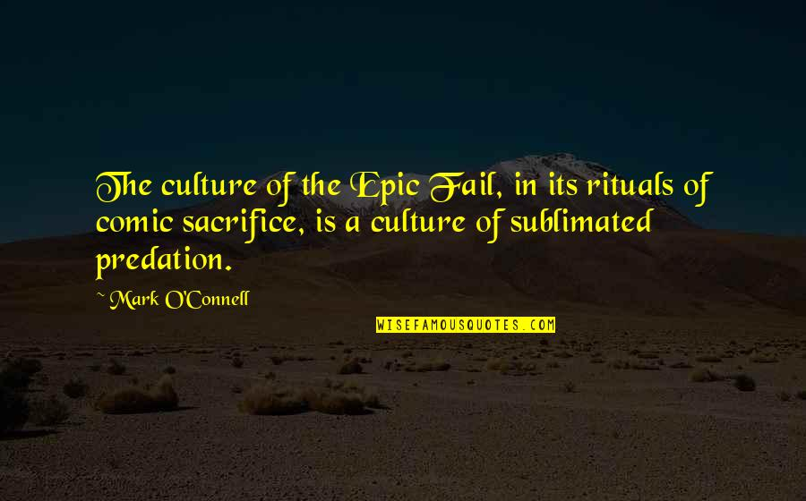 Internet Culture Quotes By Mark O'Connell: The culture of the Epic Fail, in its