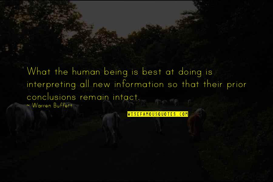 Interpreting Quotes By Warren Buffett: What the human being is best at doing