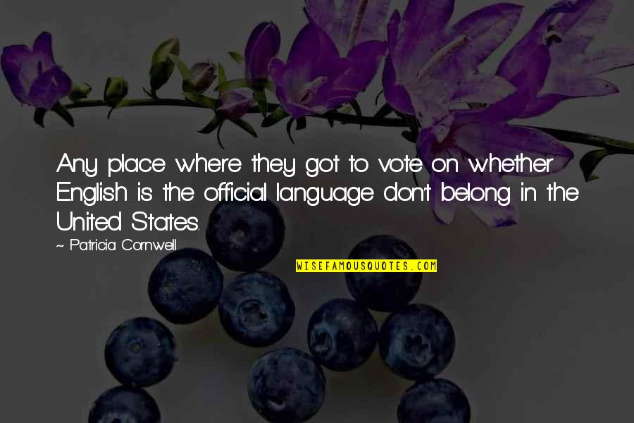 Interstellar Rage Quotes By Patricia Cornwell: Any place where they got to vote on