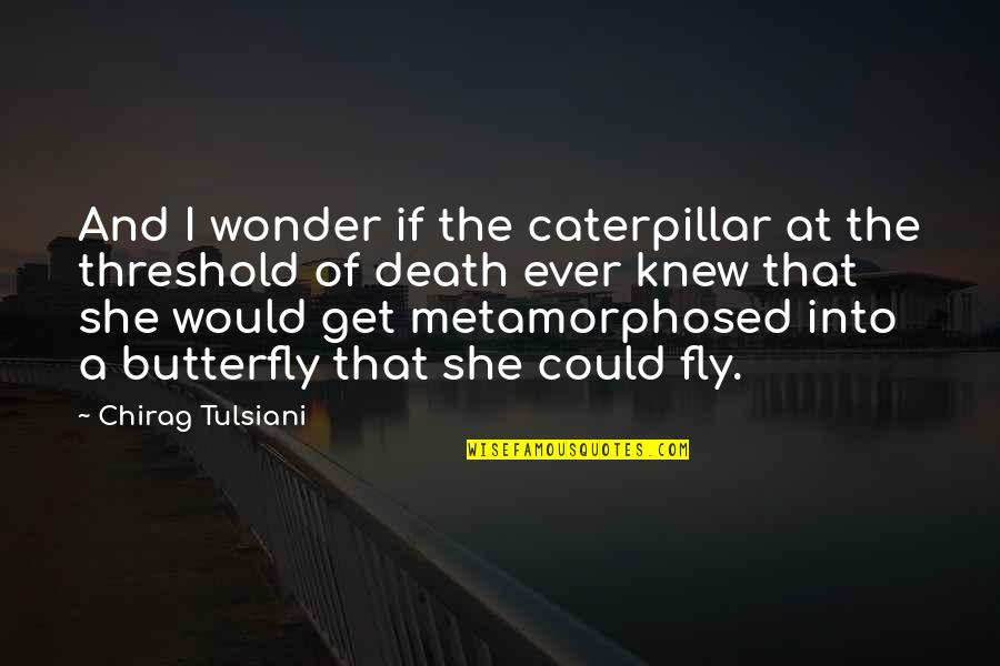 Into The Wonder Quotes By Chirag Tulsiani: And I wonder if the caterpillar at the