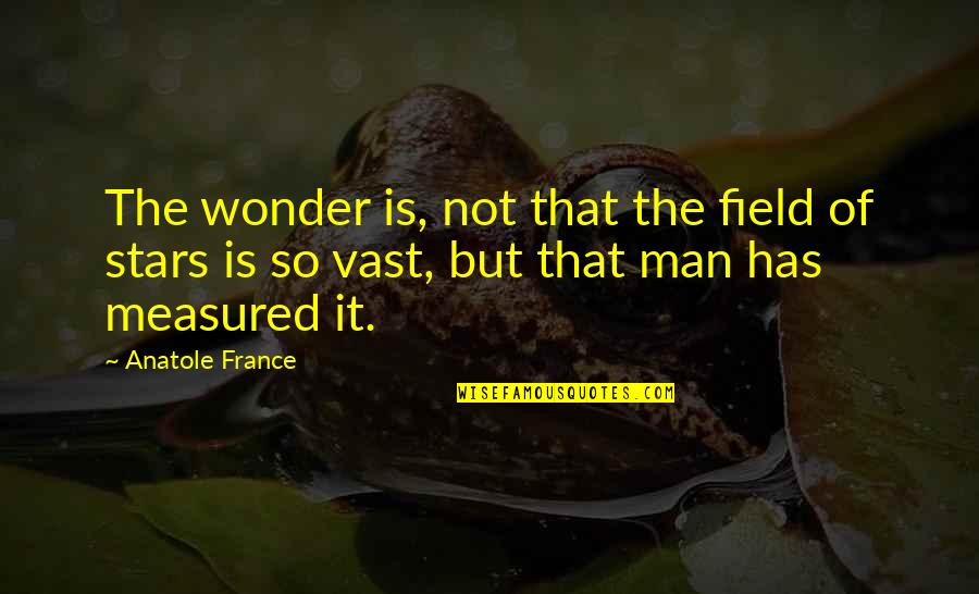 Introspective Quotes By Anatole France: The wonder is, not that the field of