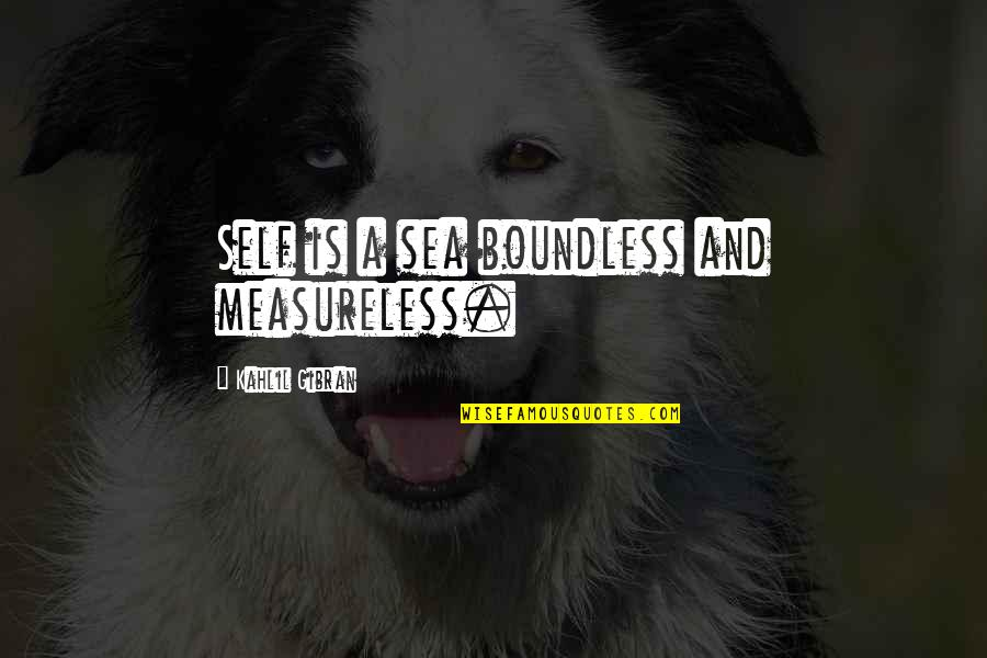 Introspective Quotes By Kahlil Gibran: Self is a sea boundless and measureless.