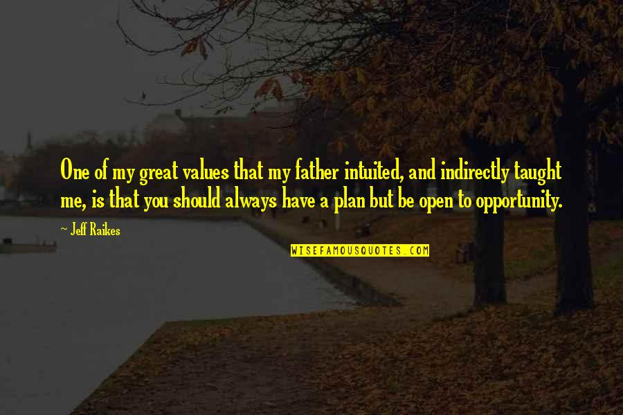 Intuited Quotes By Jeff Raikes: One of my great values that my father