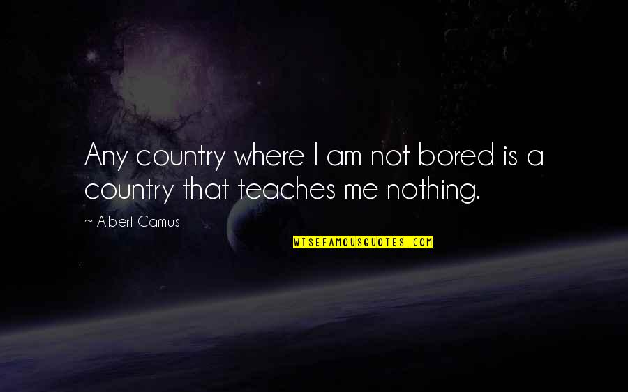 Ipad 2 Engraving Quotes By Albert Camus: Any country where I am not bored is