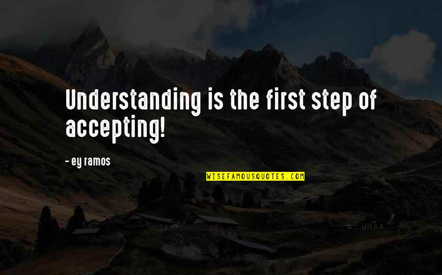 Ipad 2 Engraving Quotes By Ey Ramos: Understanding is the first step of accepting!