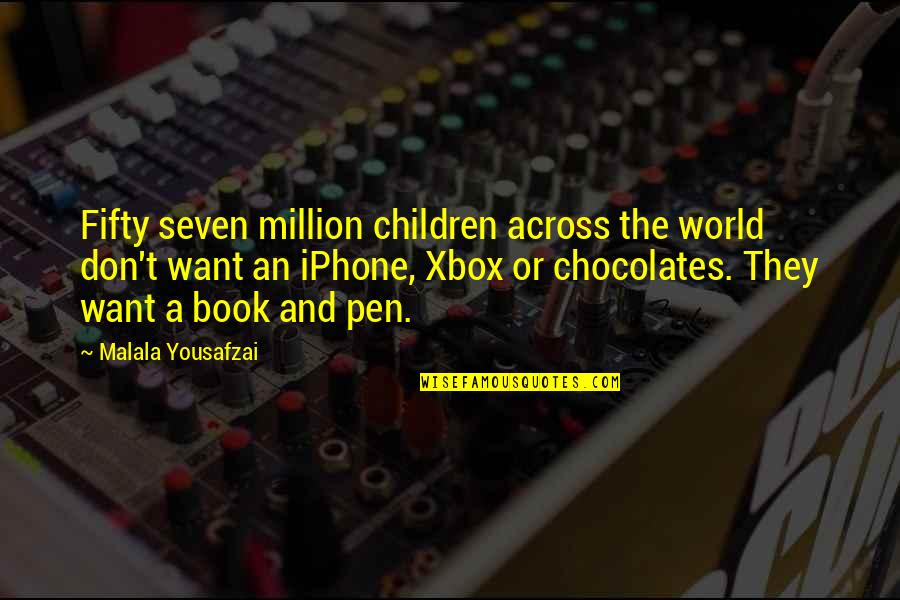 Iphone 6 Plus Quotes By Malala Yousafzai: Fifty seven million children across the world don't