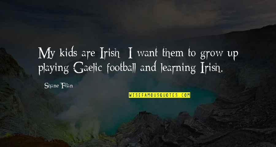Irish Gaelic Quotes By Shane Filan: My kids are Irish; I want them to