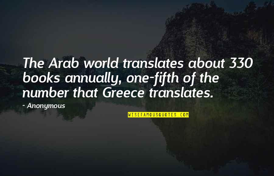 Irish Headstones Quotes By Anonymous: The Arab world translates about 330 books annually,