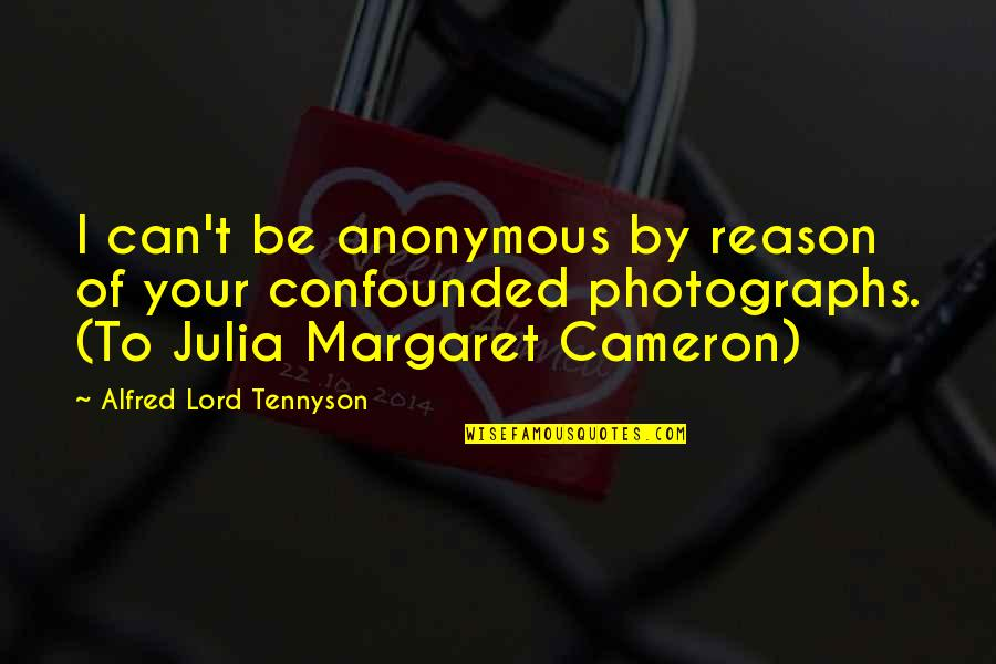 Irish Revenge Quotes By Alfred Lord Tennyson: I can't be anonymous by reason of your