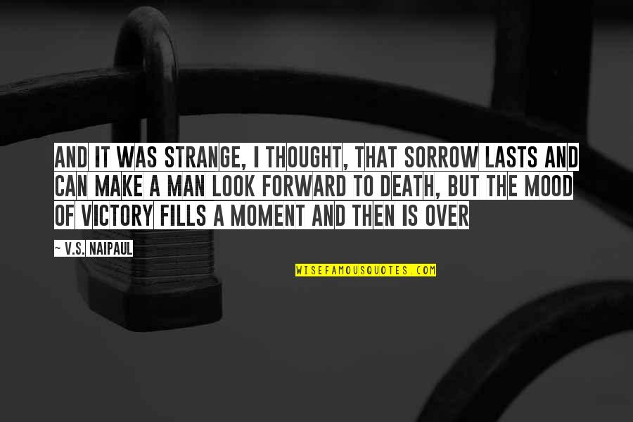 Irony Of Life And Death Quotes By V.S. Naipaul: And it was strange, I thought, that sorrow
