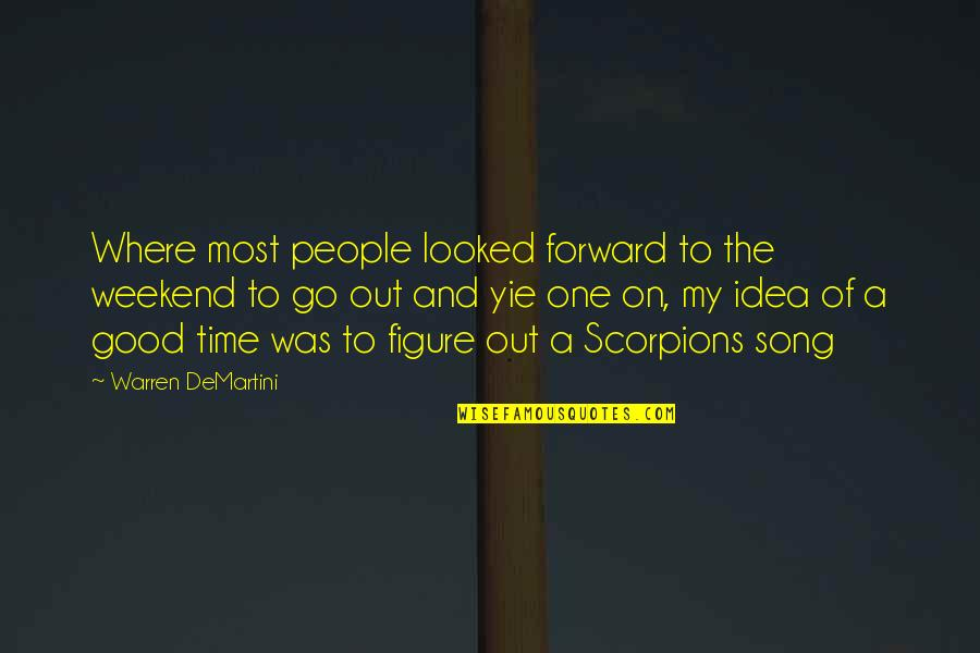 Is It The Weekend Yet Quotes By Warren DeMartini: Where most people looked forward to the weekend