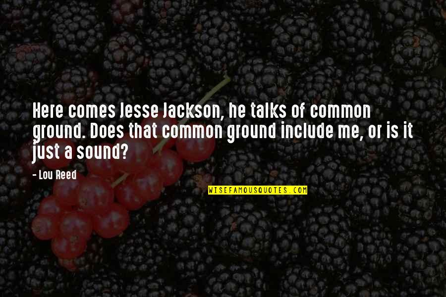 Is Just Me Quotes By Lou Reed: Here comes Jesse Jackson, he talks of common