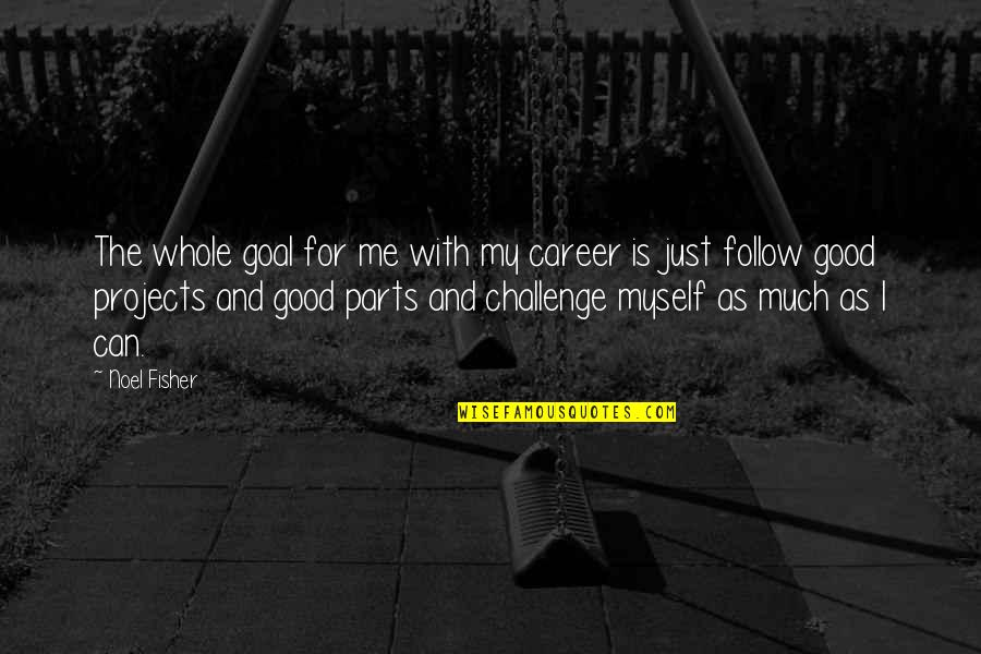 Is Just Me Quotes By Noel Fisher: The whole goal for me with my career