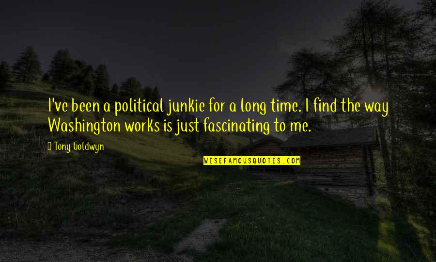 Is Just Me Quotes By Tony Goldwyn: I've been a political junkie for a long