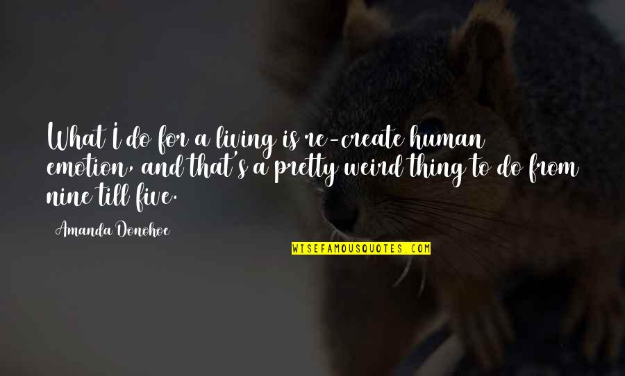 Is That Weird Quotes By Amanda Donohoe: What I do for a living is re-create
