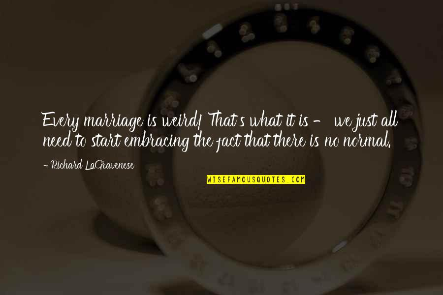 Is That Weird Quotes By Richard LaGravenese: Every marriage is weird! That's what it is