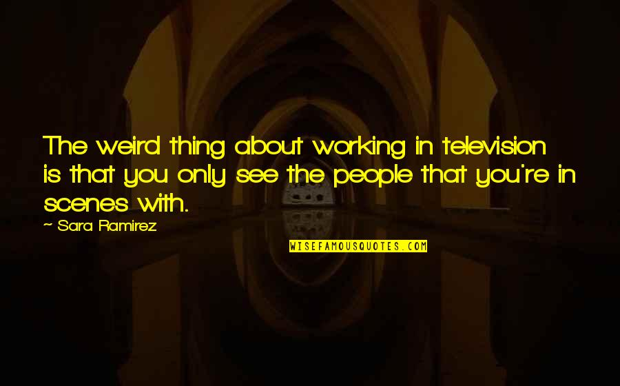 Is That Weird Quotes By Sara Ramirez: The weird thing about working in television is