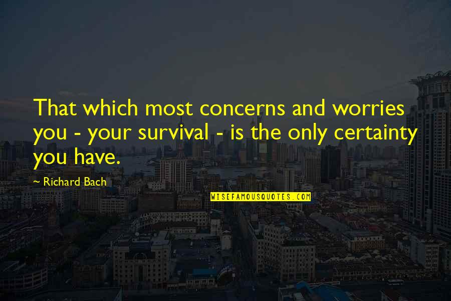Is That You Quotes By Richard Bach: That which most concerns and worries you -