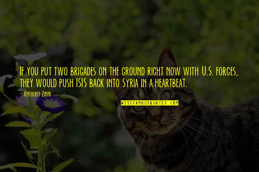 Isis Quotes By Anthony Zinni: If you put two brigades on the ground