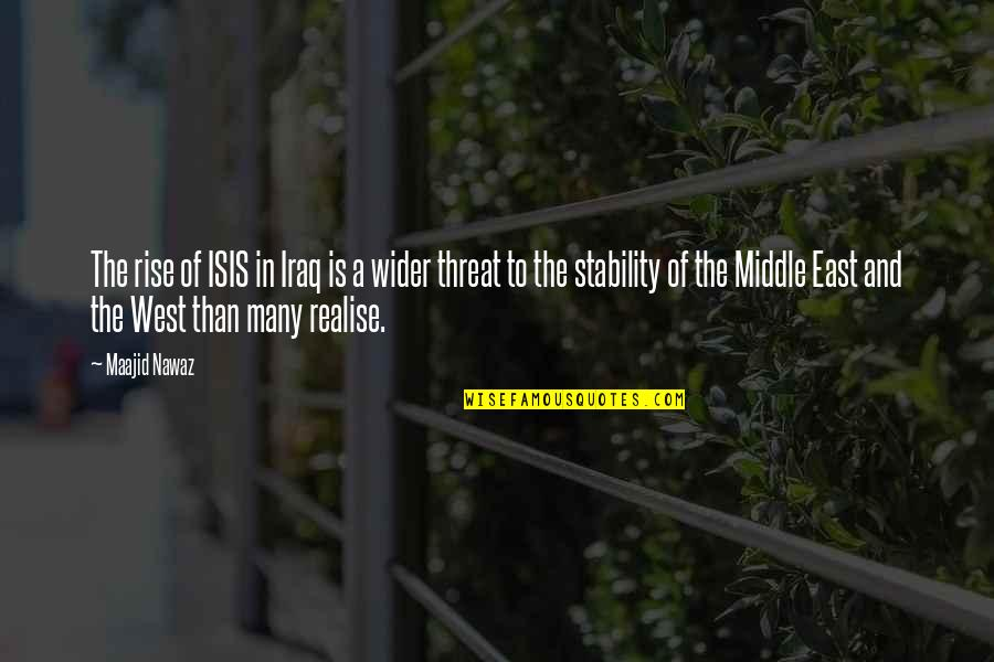 Isis Quotes By Maajid Nawaz: The rise of ISIS in Iraq is a