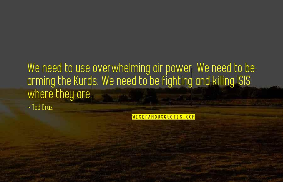 Isis Quotes By Ted Cruz: We need to use overwhelming air power. We