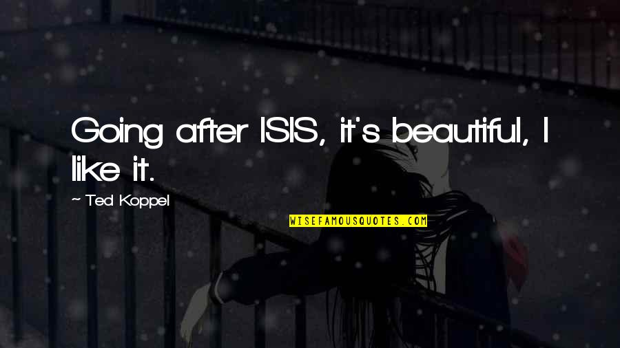 Isis Quotes By Ted Koppel: Going after ISIS, it's beautiful, I like it.
