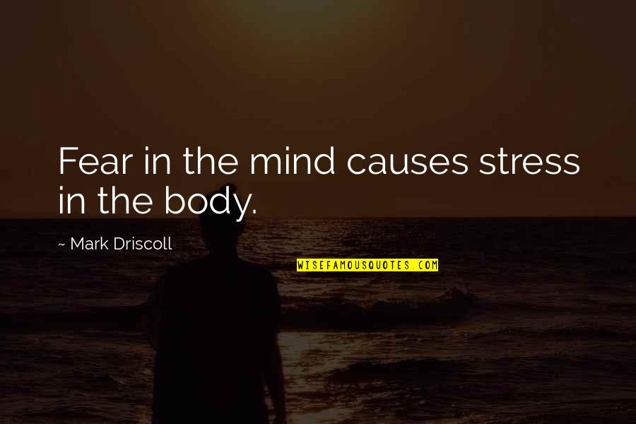 Islanding Quotes By Mark Driscoll: Fear in the mind causes stress in the