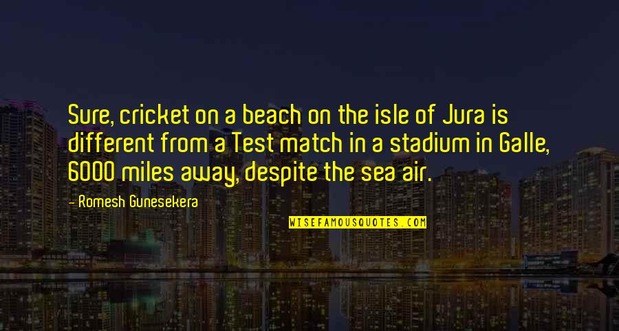 Isle Quotes By Romesh Gunesekera: Sure, cricket on a beach on the isle